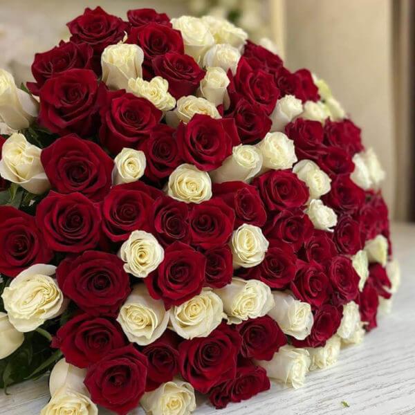 101 роза купить с доставкой