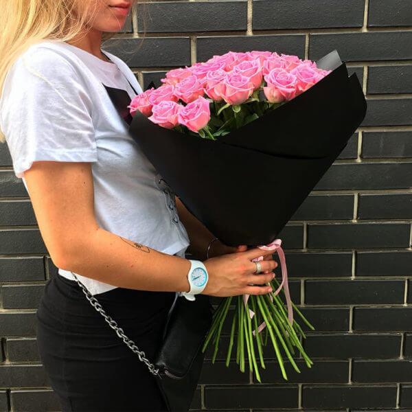 цветы 35 роз