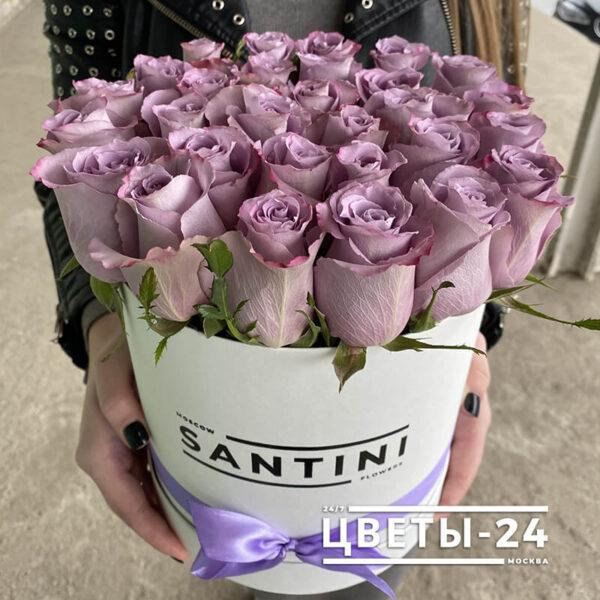 цветы в шляпной коробке доставка