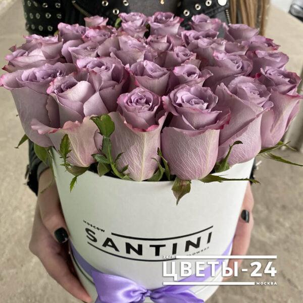 розы в коробке купить в москве