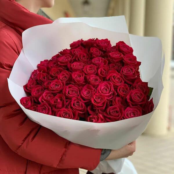 35 красных роз купить