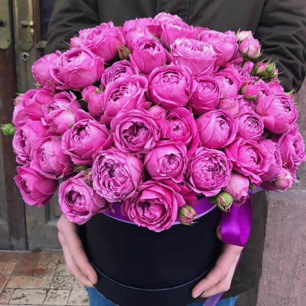 розы в коробке москва недорого