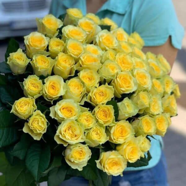 желтные розы