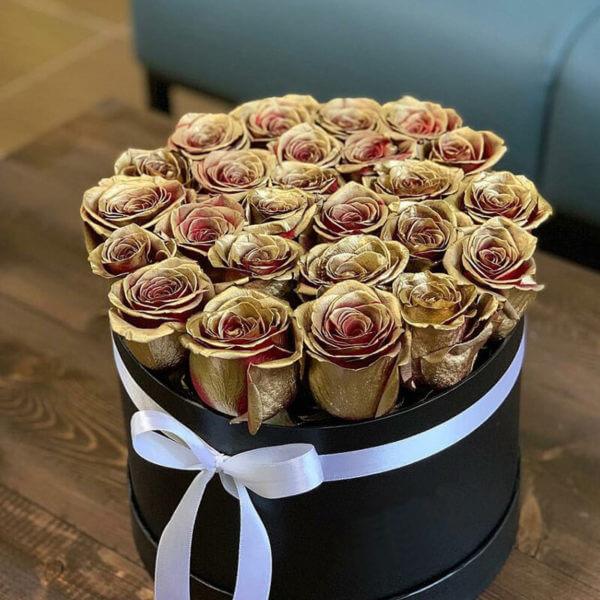 коробка с розами москва