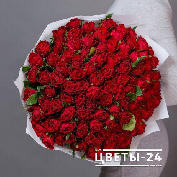 101 роза москва доставка