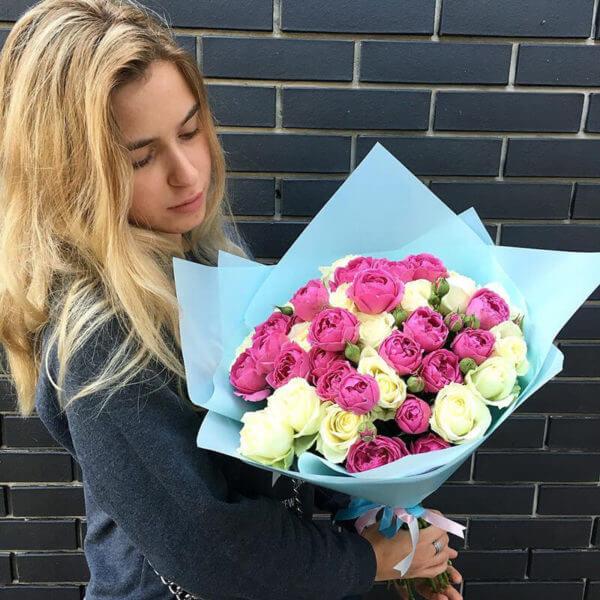 заказать розы микс