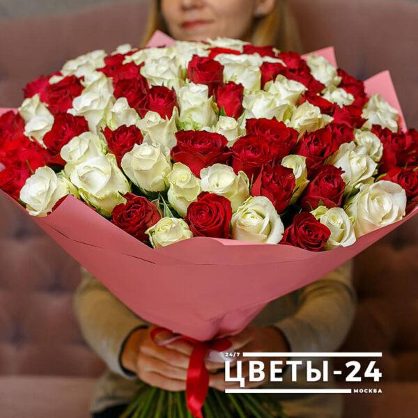 доставка цветов роз недорого