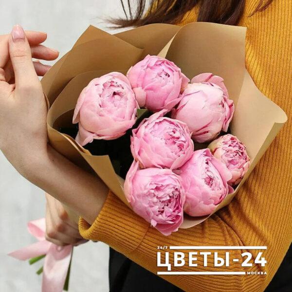 купить розовые пионы недорого