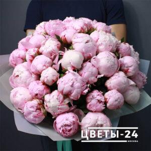 розовые пионы доставка