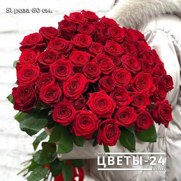 купить 51 розу