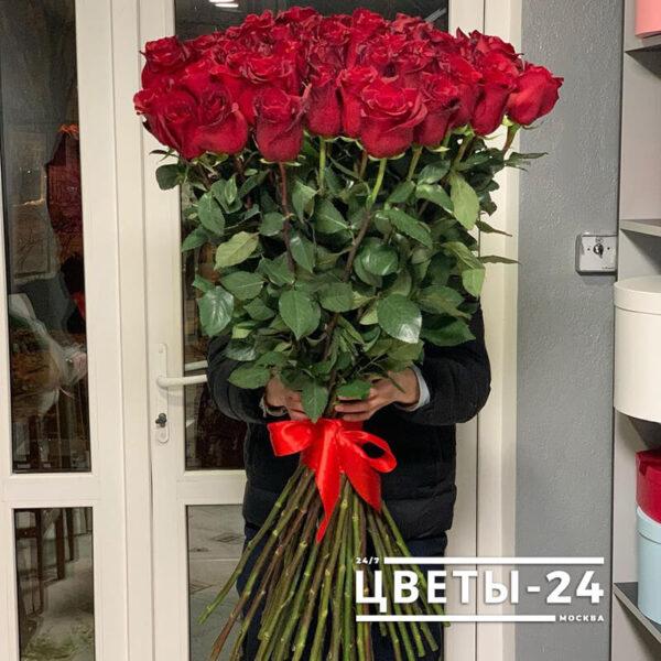 метровые розы купить в москве недорого