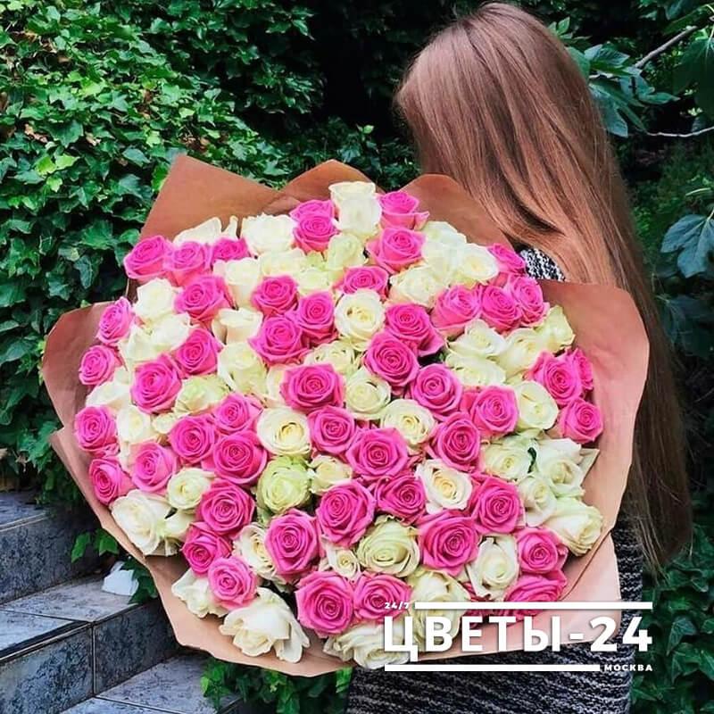 101 роза в москве недорого