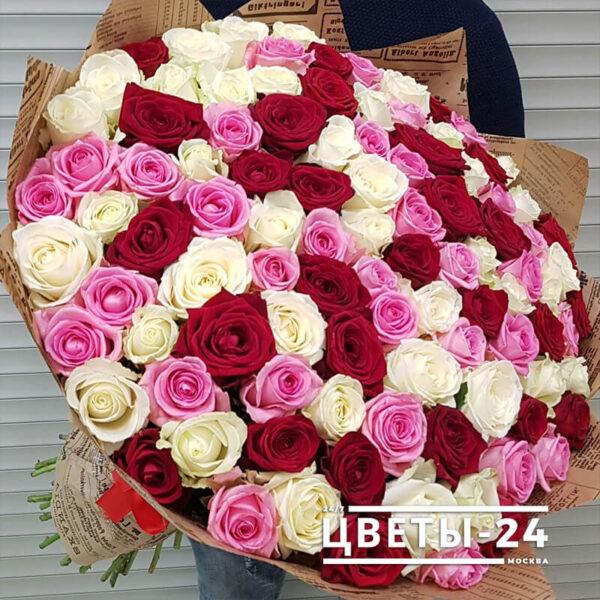 101 роза с доставкой москва