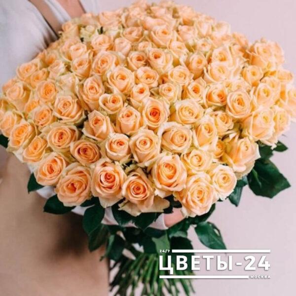 101 роза 70 см Москва