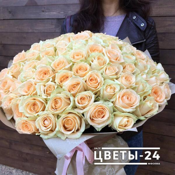 101 роза 80 см купить