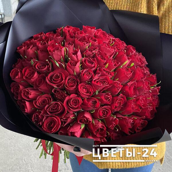 101 роза купить недорого