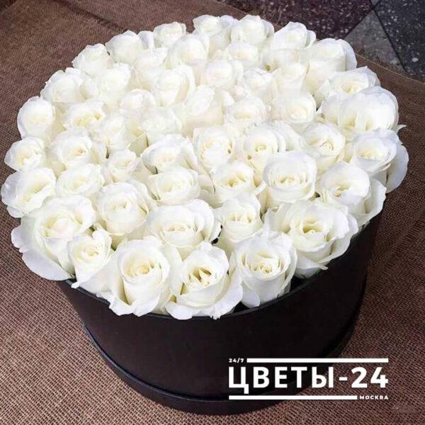 купить 51 розу в коробке доставка
