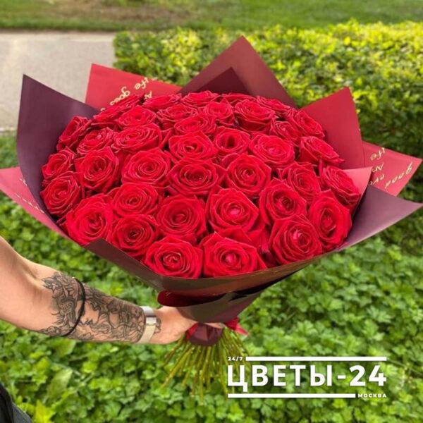 купить 51 розу недорого