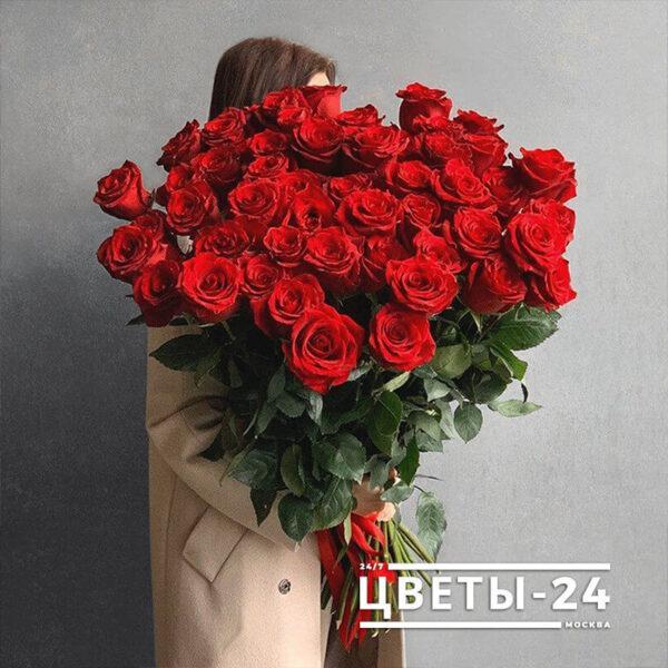 доставка 51 роза москва