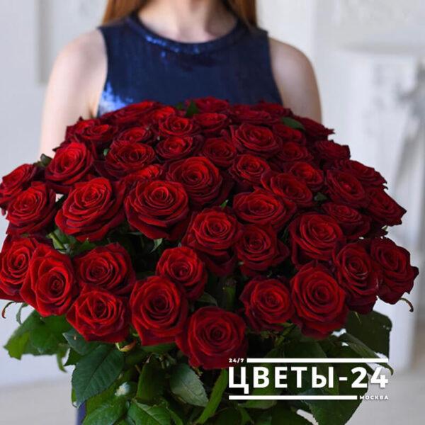 51 роза купить дешево москва