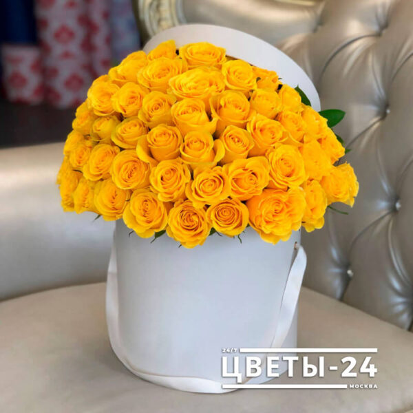 51 роза в коробке Москва