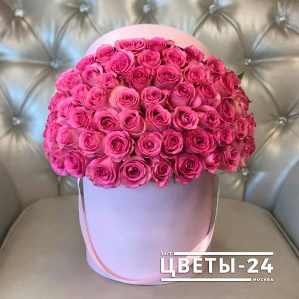 51 роза в коробке купить