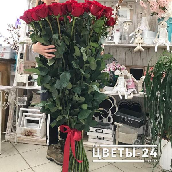 длинные розы дешево доставка