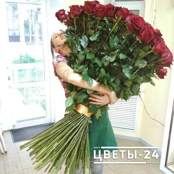 длинные розы Москва