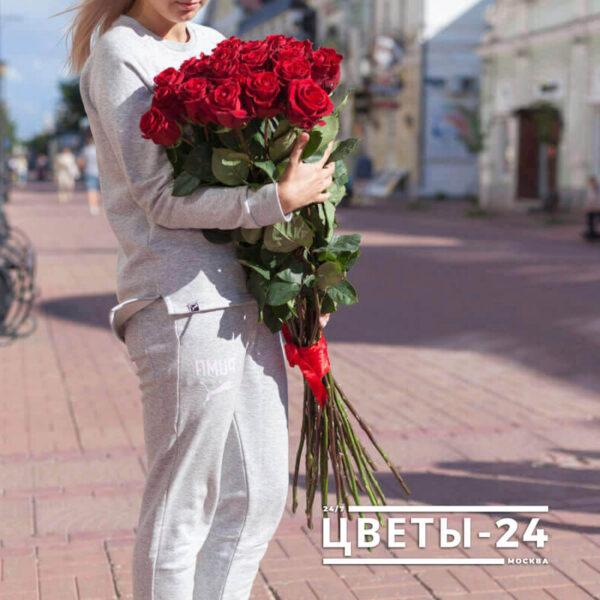 метровые розы букет