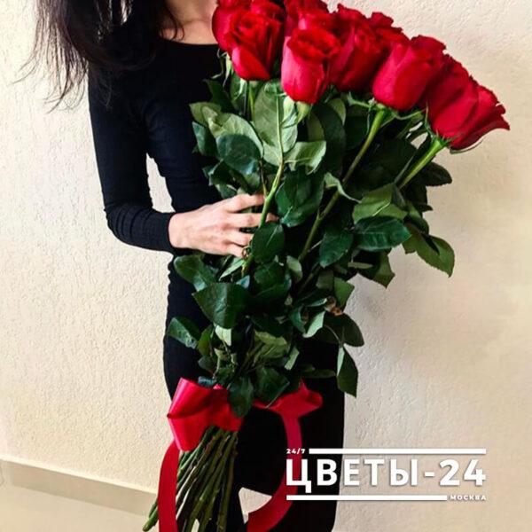 доставка метровых роз