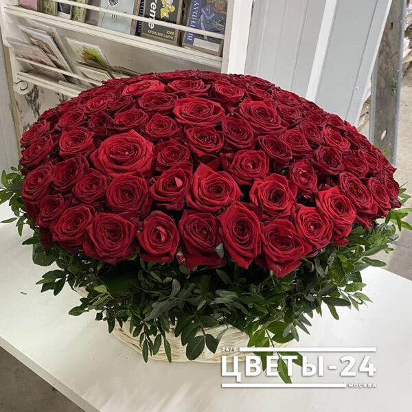 корзина роз недорого