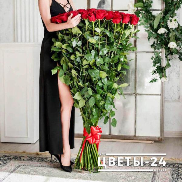 длинные розы дешево