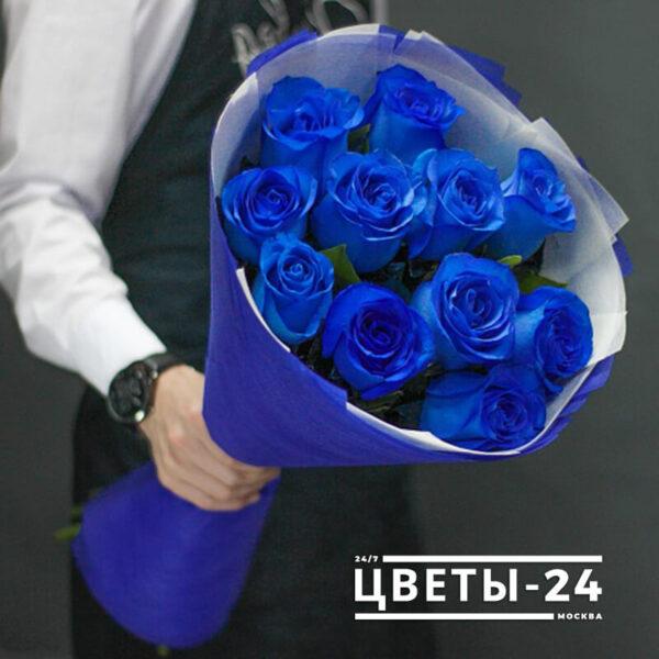 купить синие розы дешево