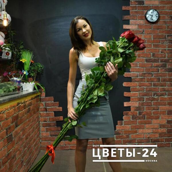 высокие розы недорого