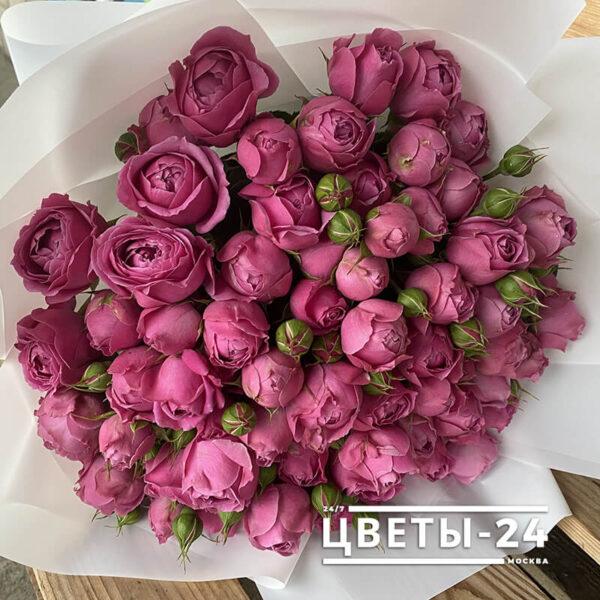 кустовые розы доставка москва