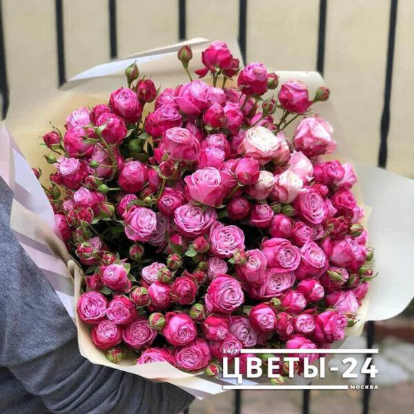 кустовые розы букет москва