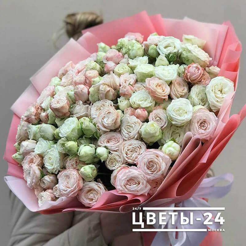 кустовые розы купить в москве