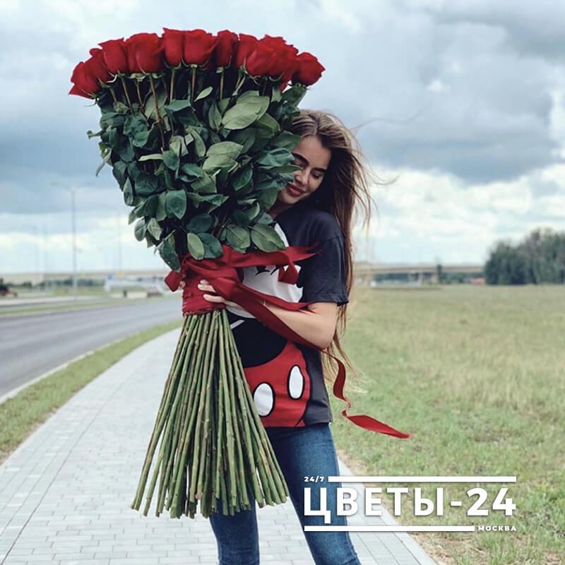 высокие розы купить