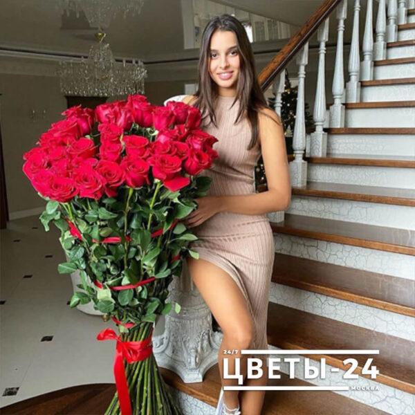 заказать метровые розы