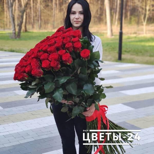 купить метровые розы недорого
