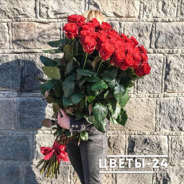 доставка метровых роз москва