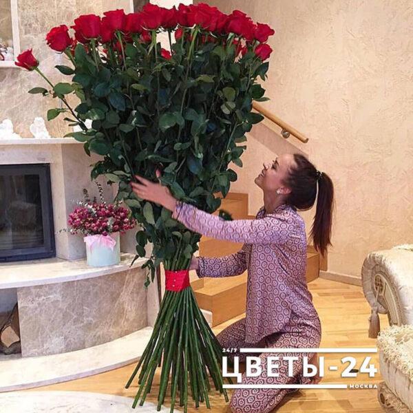 купить метровые розы с доставкой