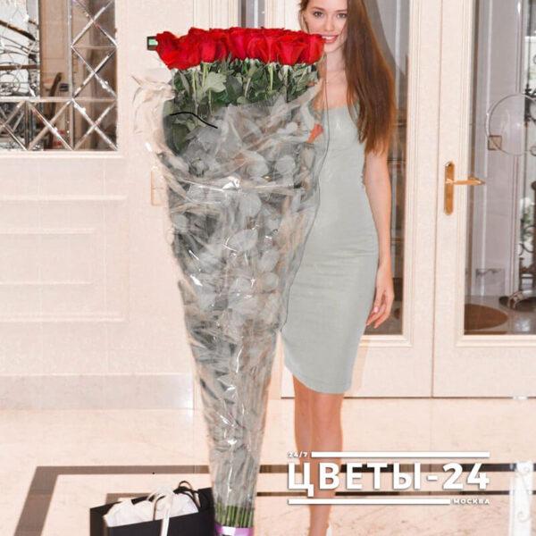длинные розы 150 см