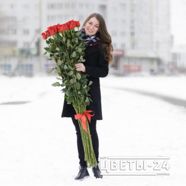 высокие розы купить в москве