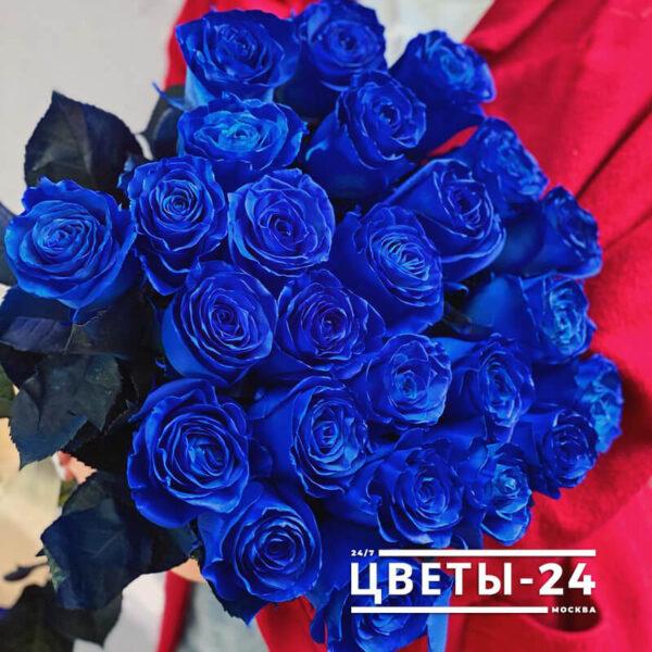 синие розы москва доставка