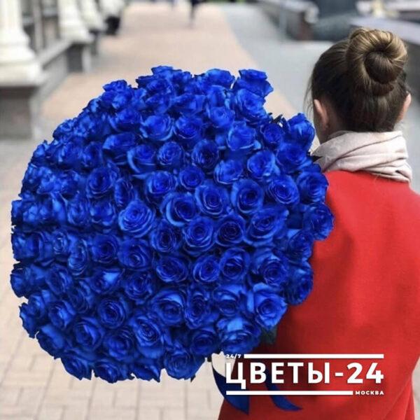 доставка синих роз