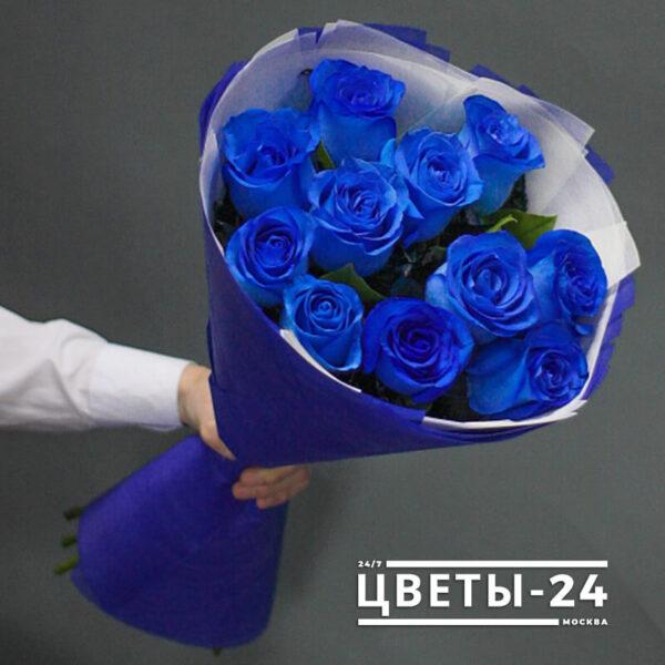 синие розы купить магазин