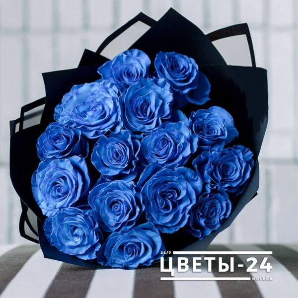 цветы синие розы купить