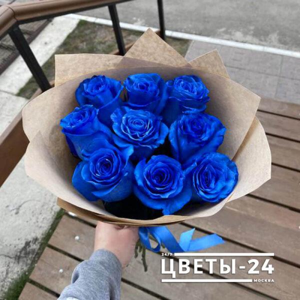 где можно купить синие розы в москве