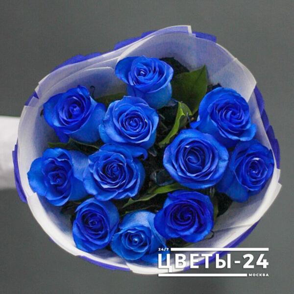 синие розы купить в москве самовывоз
